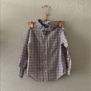 Janie and Jack White Checkered Button Shirt Size 4